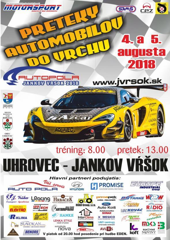 50ba2d2cc03c Preteky automobilov do vrchu Jankov vŕšok 4. a 5. august 2018